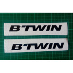 B'TWIN logo sticker for Bicycles, helmets