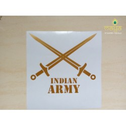 Sword Indian Army custom sticker for Cars / bikes/ Royal Enfield / laptop