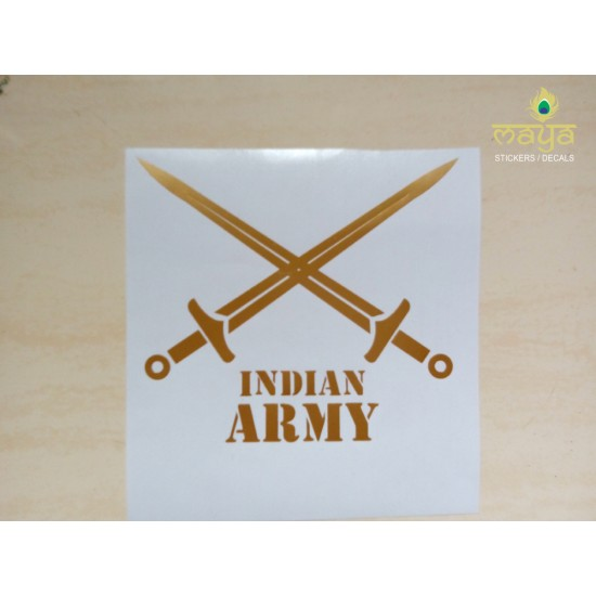 Indian Army Logo Stickers For Bikes Cars Laptop