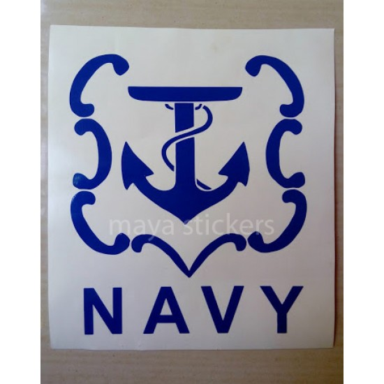 Indian navy logo emblem custom sticker decal for cars bikes laptop