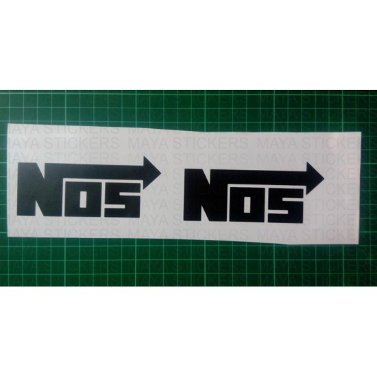 Nos Logo Sticker Buy Online Pair Of 2 Stickers In Custom