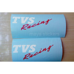 TVS Racing logo stickers for TVS bikes and helmet