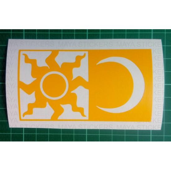 Valentino Rossi Sun And Moon Helmet Motif Sticker