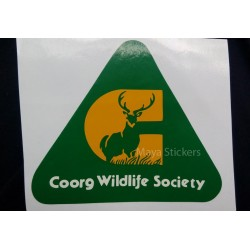 Coorg wildlife society sticker / decal for cars - Die cut decal not cheap printed stickers