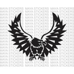 Eagle vinyl decal sticker for bikes and cars. Available in custom colors and sizes