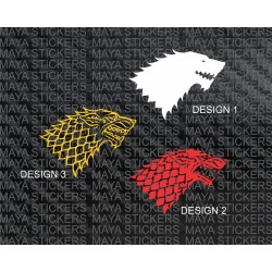 Wolf design - house of stark logo from Game of Thrones