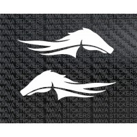 Horse stickers for bike fuel tanks, cars and laptop (Pair of 2 stickers)