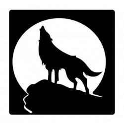 Wolf howling vinyl decal sticker for Cars and laptop
