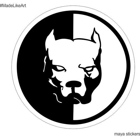 Pitbull dog sticker for cars, bikes, laptop and wall ...