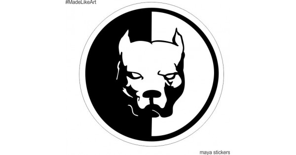 pitbull dog sticker for cars  bikes  laptop and wall