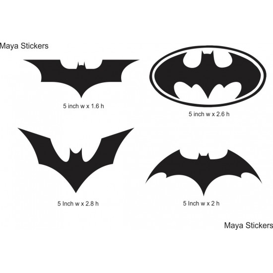 Batman logo stickers set of 4 high quality logos custom colors available