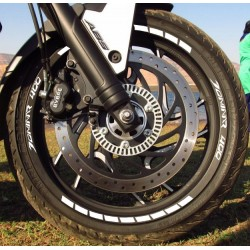 Bajaj Dominar 400 wheel rim stickers