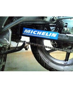 Michelin racing logo sticker for Bajaj Pulsar swing arm