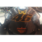 46 number Valentino Rossi racing sticker in Dual color for bikes, helmets