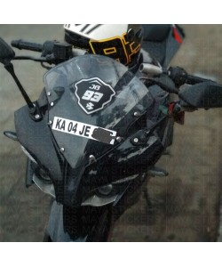 Racing number stickering on Bajaj Pulsar RS200