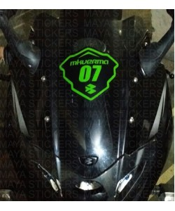 Racing name and number sticker bajaj pulsar 220F dome