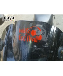 We believe in football sticker on Pulsar 220F visor
