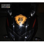 Racing style name and number sticker for Bajaj Pulsar, DOMINAR