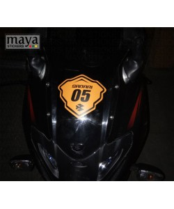 Racing name and number sticker bajaj pulsar 220f