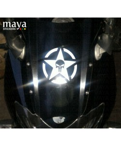 Skull and Star sticker for pulsar visor