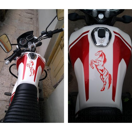 Horse rearing decal sticker for cars, bikes, laptops