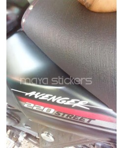 Bajaj Avenger logo sticker on street