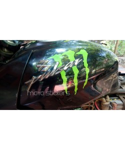 Monster logo stickering for Bajaj Pulsar 150 fuel tank