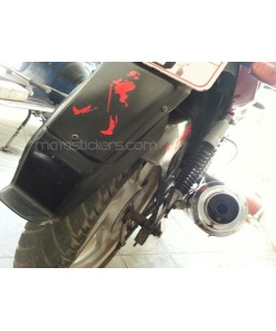 Johnnie walker sticker work on bajaj pulsar back mudguard