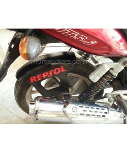 Repsol racing logo sticker for bajaj pulsar
