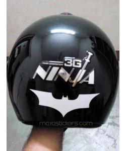 Batman stickers for helmet