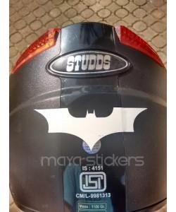 Batman logo stickers for helmet