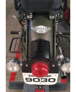 Bullet 500 logo sticker on Mudguard
