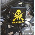 Crossed guns custom sticker / decal for royal enfield
