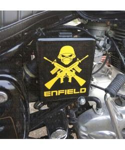 Guns and skull sticker for Royal Enfield bullet air filter box