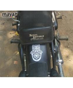 Hamsa hand sticker on bullet mudguard