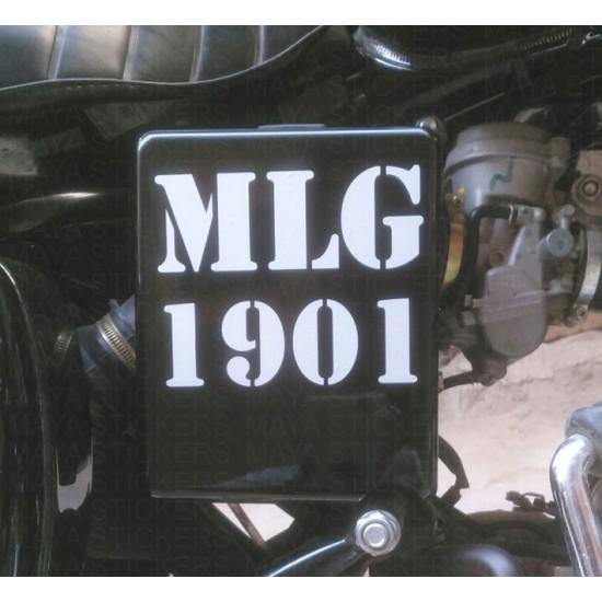 Royal Enfield Custom Mlg 1901 Sticker Decal For Royal