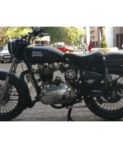Old model royal enfield bullet modified with our stickers