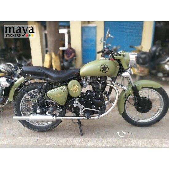 Us Military Star Sticker Decal For Royal Enfield And Other