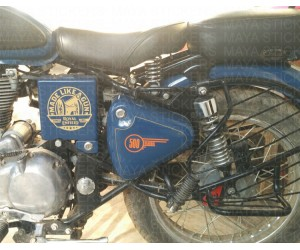 Classic 500 toolbox logo sticker for lagoon blue enfield