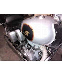 Custom designed fuel tank sticker with hayabusa logo