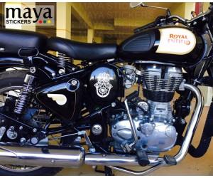 Hamsa hand sticker on RE classic 350