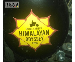 Himalayan odyssey sticker royal enfield classic 350 black side box