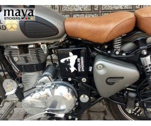Bhaghat singh sticker on royal enfield classic gunmetal grey
