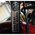 Live Free Ride hard bike stump stickers for Royal Enfield Bikes ( Pair of 2 )
