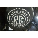 live free ride hard custom royal enfield stickers