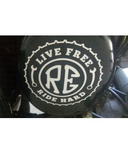 Live free ride hard stickers for Royal Enfield classic