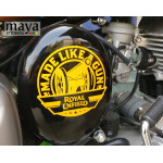 Made like a Gun sticker / decal for Royal Enfield bullet bikes