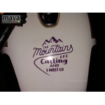 Mountains are calling sticker for Bikes, cars, laptops