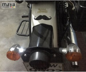 Moustach sticker for royal enfield back mudguards