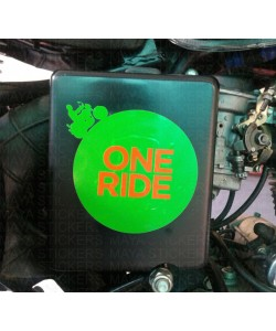 One ride sticker in custom colors for RE battery box